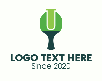 Paddle - Green Table Tennis Paddle Lab logo design