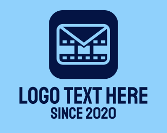 Movie - Film Mail Application logo design