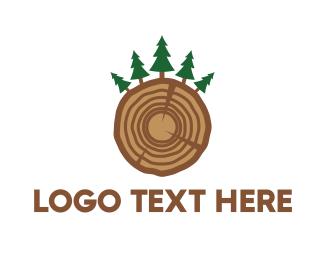 Trunk - Pine Wood logo design