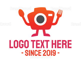 Photographer - Orange Food Photographer logo design