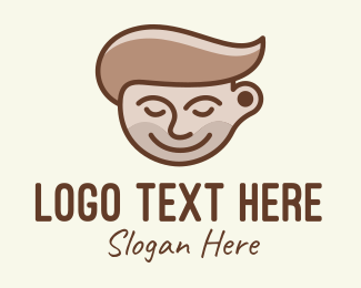 Dude - Brown Coffee Guy logo design