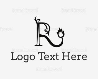 Men Accessories - Royal Letter R logo design