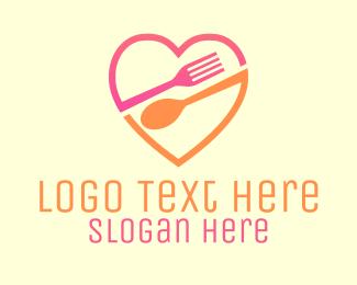 """Restaurant Eat Food Love Heart"" by LogoBrainstorm"