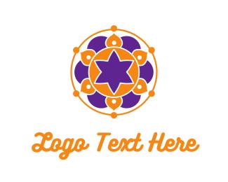 Purple Circle - Floral Mandala logo design