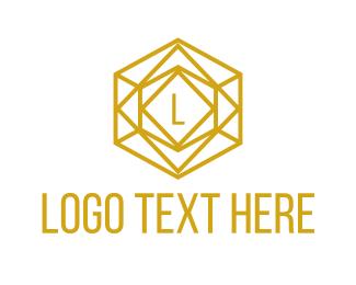 Gemstone - Gold Crystal Lettermark logo design