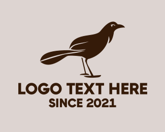 Black Bird - Brown Bird logo design