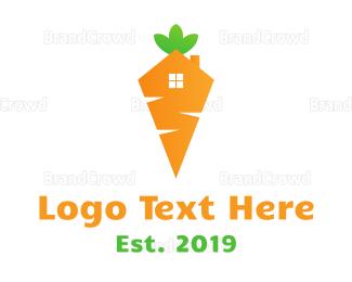 Carrot - Carrot House logo design