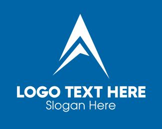 Aeroplane - White Mountain Peak Arrow logo design