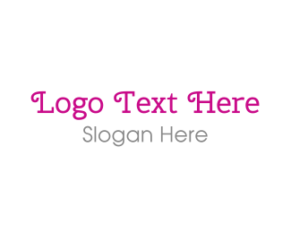 Curly - Curly Pink  Typeface logo design
