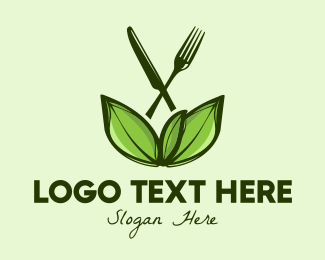 Farmers Market - Healthy Food Leaves  logo design