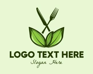 Diet - Healthy Greens Salad Food logo design