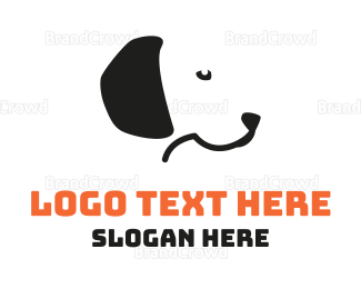 Dog Walking - Black Dog  logo design