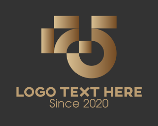 Recognition - Abstract Bronze Award logo design