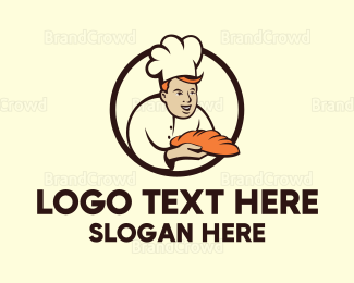 Bread - Baker Man logo design