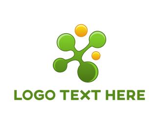 Micro - Green & Yellow Circles logo design