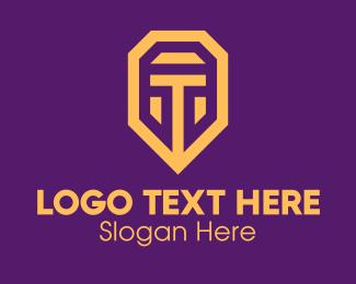 Letter T - Golden Elegant Letter T logo design