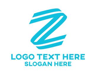 Gymnast - Letter Z Stroke logo design