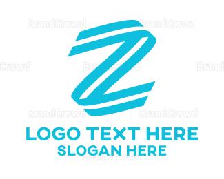 Gymnastics - Letter Z Stroke logo design