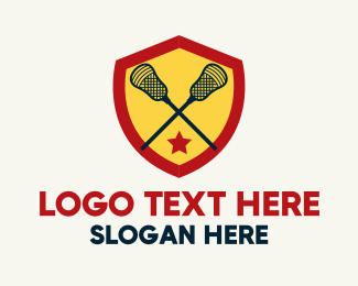 Coat Of Arms - Lacrosse Team Player logo design