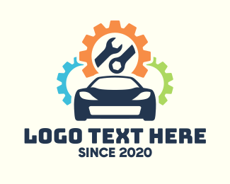 Service Center - Automobile Repair Service logo design