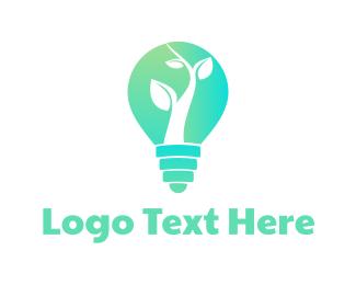 Light Bulb - Organic Lighting logo design