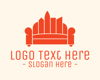 Living Room - City Sofa Couch Furniture logo design