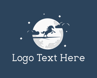 Fiction - Moon Horse logo design