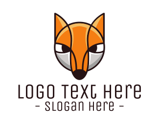 Cartoon - Fox Cub Cartoon logo design