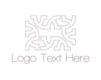 Pattern - Rectangle Letter Y logo design