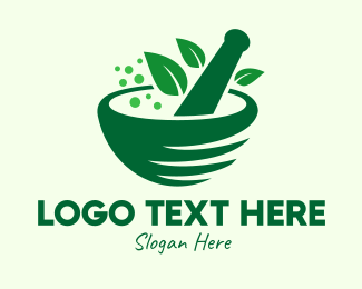 Natural Medicine - Green Natural Herbal Medicine logo design