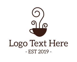 Coffee Bean - Coffee Cup Art logo design
