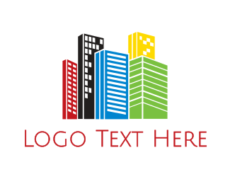 Buildings - Vibrant City logo design
