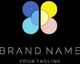 Gardener - Flower & Butterfly logo design