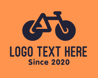 Biking - Modern Geometric Bike logo design