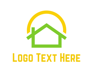 Sustainable Energy - Green Home  logo design