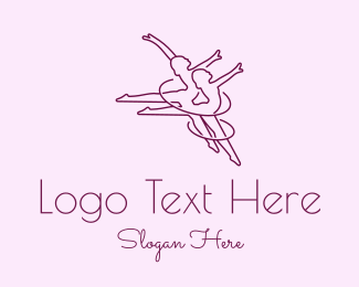 Gymnast - Women Gymnast Line Art logo design