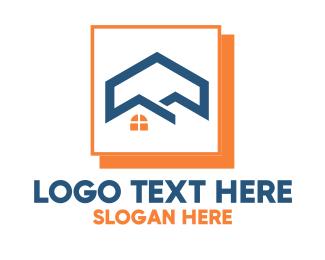 Residency - Home Construction Development  logo design