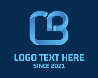 Blue Heart - Creative CB logo design