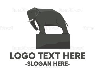 Elephant - Elephant Statue logo design