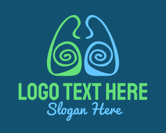 Lungs - Lung Center logo design