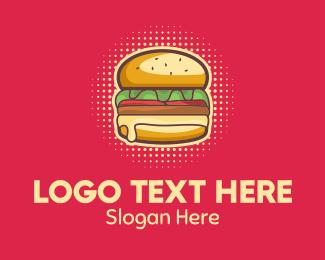 Delicious - Pop Art Burger  logo design