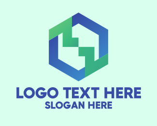 Software - Hexagon Software Connection logo design
