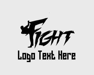 Punch - Fight Man logo design