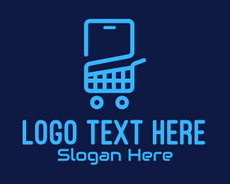 Tech Store - Mobile Tech Shopping Cart logo design