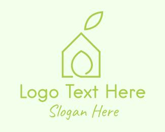 Minimalist - Eco House Property  logo design