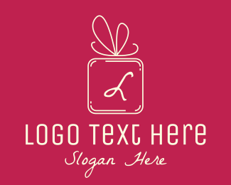 Birthday Gift - Holiday Gift Lettermark logo design