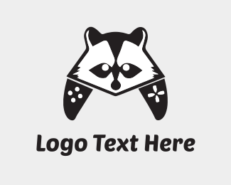 Geek - Raccoon Controller logo design
