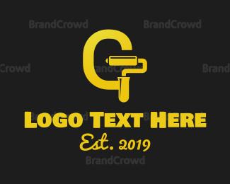 Black And Yellow - Golden Paint logo design