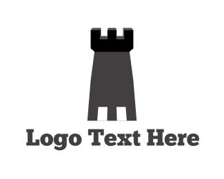 Fortress - Grey Tower logo design