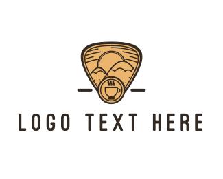 Badge - Mountain Coffee logo design